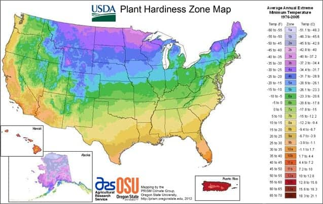 usda hardniness zone map